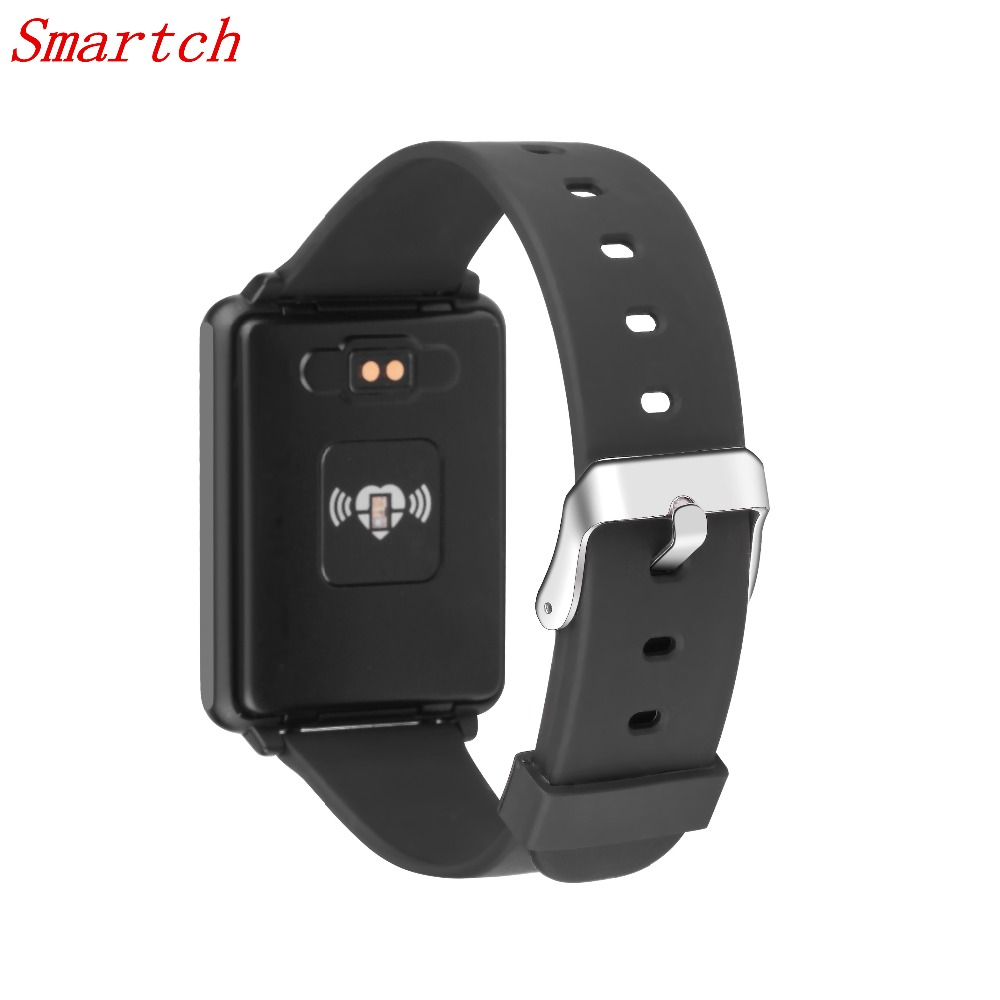 Smartch TK002 Smart Watch Heart Rate Monitor Pedometer Sports Tracker Fitness Bracelet Wristband Smartwatch for Apple