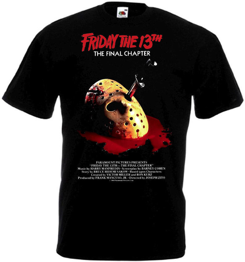 Friday The 13 Final Chapter T-Shirt all sizes S-5XL BLACK