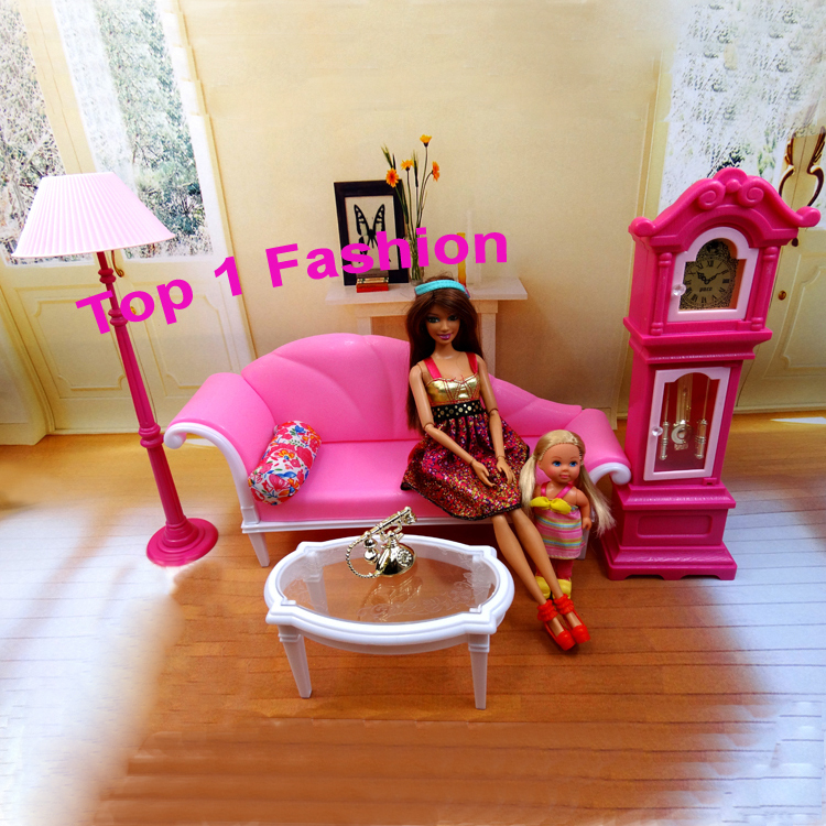 New arrival birthday gift play house doll for children live room BJD furniture for barbie dolls house free shipping new arrival christmas birthday gift children play set cute dinning room doll accessories furniture for barbie doll