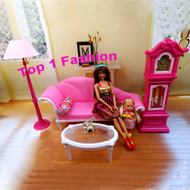 New arrival birthday gift play house doll for children live room BJD furniture for barbie dolls house