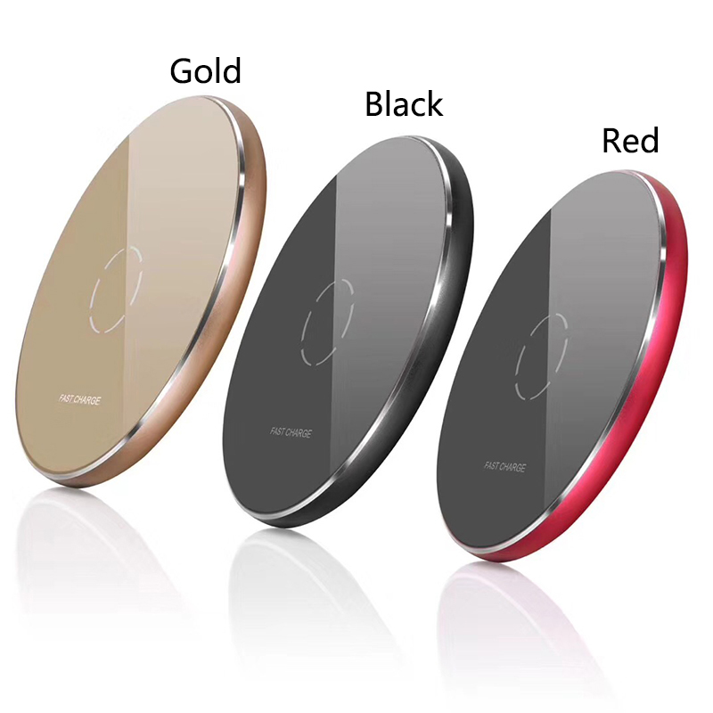 N9 Mobile Phone Wireless Charger Ultra-thin Round Charging Pad Metal Desktop Stand Mobil ...