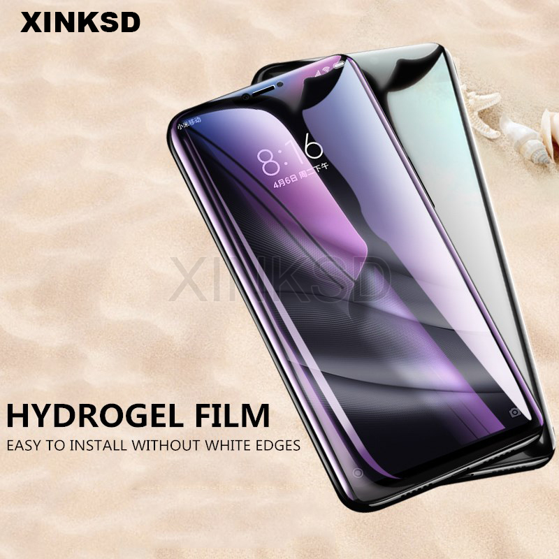 Screen Protector Film For Xiaomi Mi F1 A2 lite Mix 2 2s 8 SE 6X Strengthen Hydrogel Protective Film For Redmi 6 Pro S2 6A Note 5