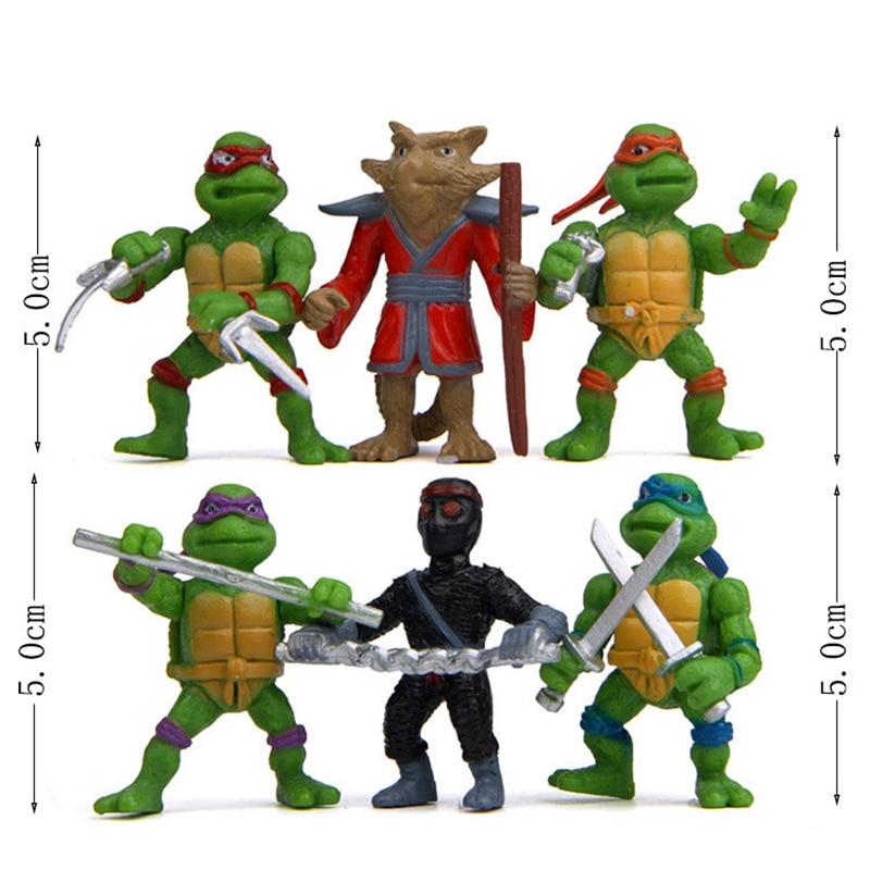 Lovely Mini Ninja Turtles Actions Figure 6pcs Bag Cartoon