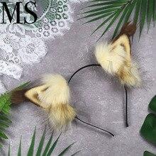 New Hand Work Animal Ears Hair Hoop Small Squirrel  Headwear hair accessories for girl women LOL cosplay