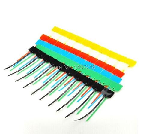 tie com marcadores com lacos zip cabo tag