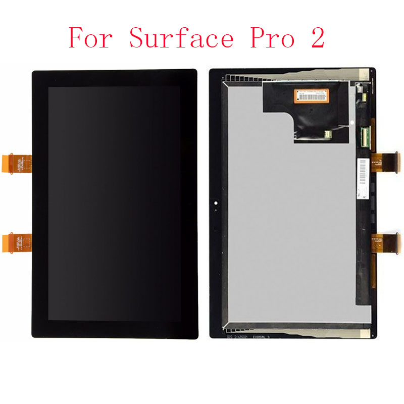 OEM 100% Test LCD Display Touch Screen Digitizer Assembly Replacement For Microsoft Surface Pro 2 1601 Black With Free Tools