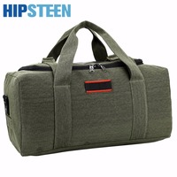 HIPSTEEN Large Capacity Canvas Men S Women Travel Bags Cross Body Bag Handbag Luggage Bag Men