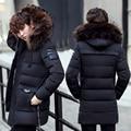 Hombres de la chaqueta de cuello de piel de invierno abajo hombres de la capa parkas de invierno gruesa caliente de alta calidad de estilo de moda hombre de color 4 m, l, xl, xxl, 3xl