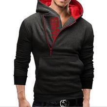 Herbst und winter kostüm mode herrenmode herren hoodie brief druck sweatshirt männer kleidung haube kleidung marke clothing zip
