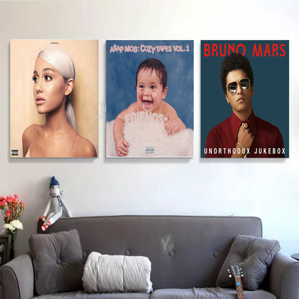 Seni Poster Magic Mushroom Dinding Kanvas Cetak Lukisan Modern Dekorasi Rumah 12X18 Cm X 27X40