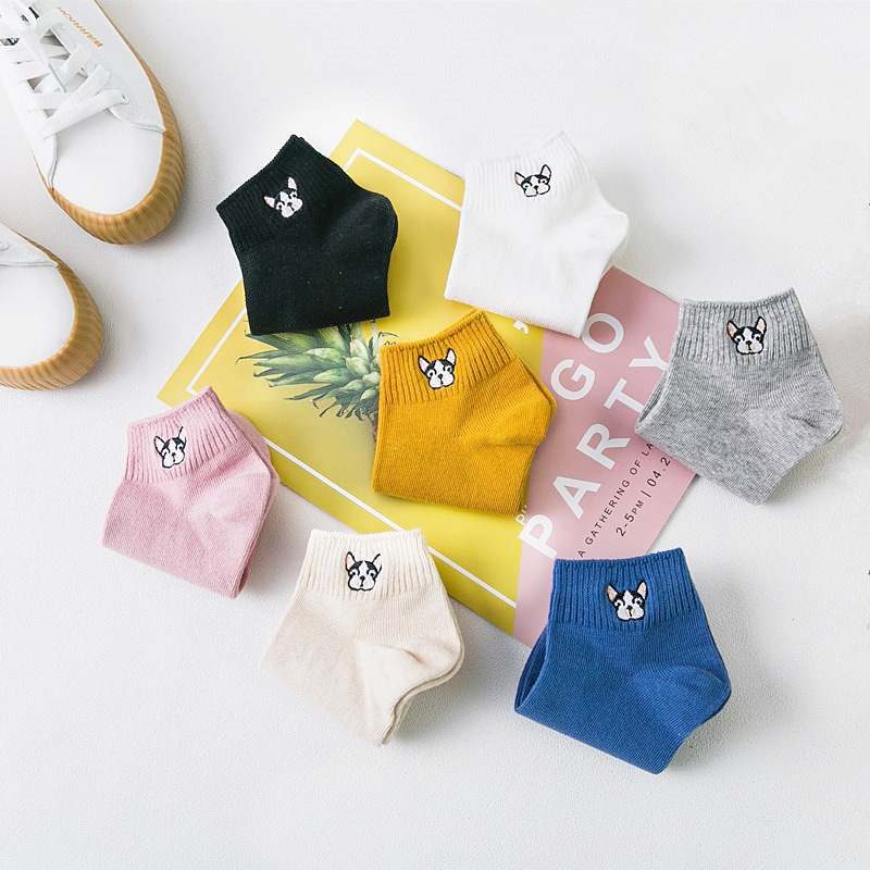 Dynamisch Neuheit Streetwear Bulldog Frauen Kurze Socken Mode Sommer Neue Ankunft Cartoon Baumwolle Nette Socken Und Calcetines Frauen Um Zu Helfen, Fettiges Essen Zu Verdauen