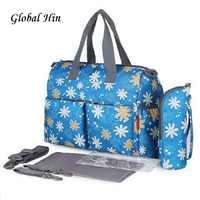Детская сумка для подгузников и пеленок сумки для мамы сумка модный набор для ухода за новорожденным Мумия Сумки из натуральной кожи Водоне...