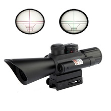 Best price Free Shipping riflescope M7 4×30 Laser Sight Telescopic Reticle Reflex Scope With 20mm Rail Mount For Hunting