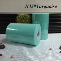 6 Inch Tulle Rolls 15cm X 100 Yards Fabric Turquoise Color Tulle Spool