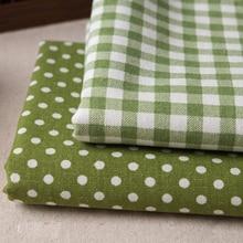 Buulqo 50*150 см с принтом в клетку и горошек хлопок льняная ткань на полметра DIY швейный домашний текстильный занавес хлопчатобумажная ткань