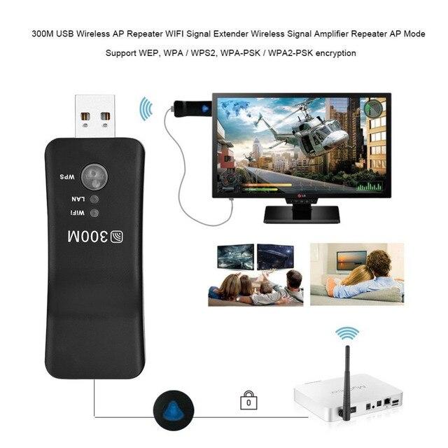 PIXLINK 300 Mbps universel sans fil TV Wifi adaptateur carte réseau RJ-45 Wi-fi WPS répéteur Mode AP pour Samsung LG Sony TV 2
