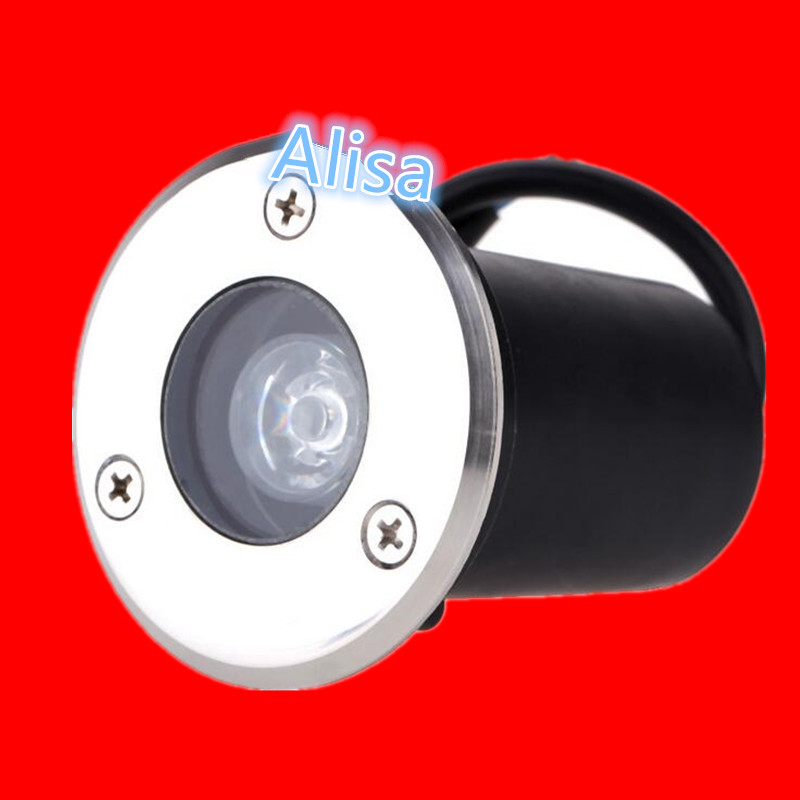blue Red green And Blue Ip68 Waterproof 1w 3w 85-265v/12v Led Outdoor Ground Garden Path Floor Underground Buried Light Yellow
