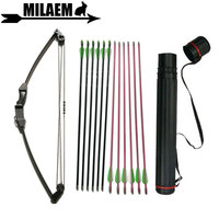 12lbs Archery Compound Bow Children Arrow Outdoor Children Training Bow Set for Kids Boy Girls Shooting Hunting Accessory