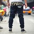 Envío libre Más El tamaño de largo pantalones militares hombres de grasa pantalones de Hip-Hop correa elástica pantalones flojos ocasionales 5xl 6xl 7xl 8xl