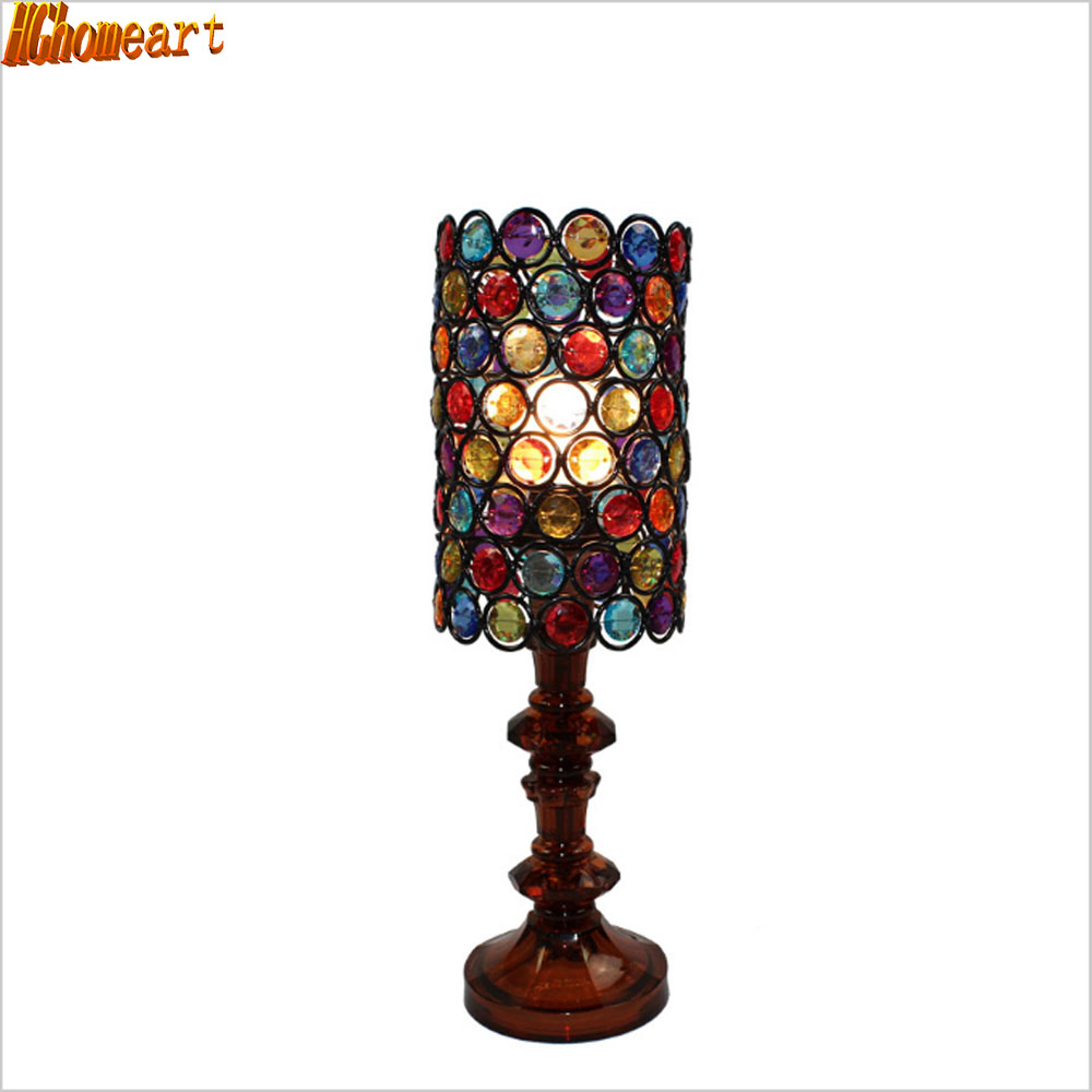 Antique wooden table lamps - Korean Romantic Minimalist Bedside Led Table Lamp Idyllic Rustic Bedroom Lamps Antique Light China