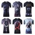 Star Wars Tshirts 2017 Novo Camisetas Hombre Homens T-Shirt Da Novidade 3D imprimir shirt Tops O-pescoço Manga Curta Masculina T Engraçado Camiseta