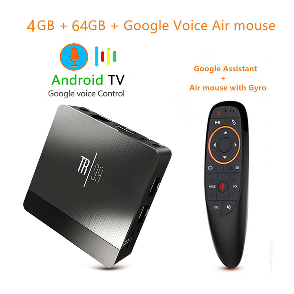 US $27 59 54% OFF|Transpeed TR99 X2 Android 9 0 Smart TV BOX Google Voice  Assistant Amlogic S905X2 4GB 64GB fast Wifi Bluetooth 4K 3D top box IPTV-in