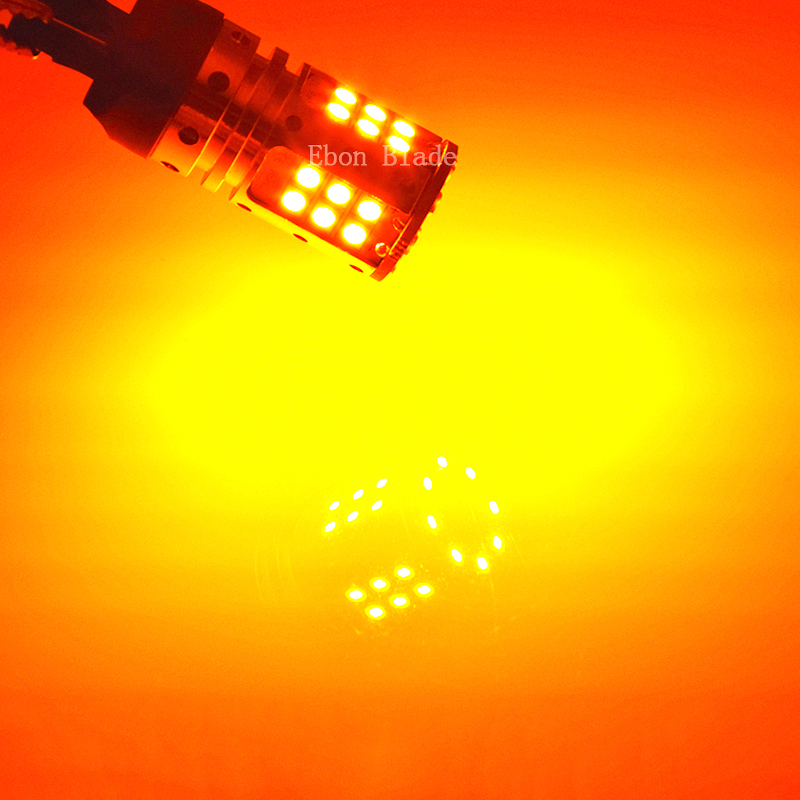 Image 5 - 2 x 1156PY PY21W LED Amber No Error Turn Signal light BAU15S 7507 Orange Yellow 3030 Car Canbus No Hyper Flash Bulb Lamp 12V 24V-in Signal Lamp from Automobiles & Motorcycles