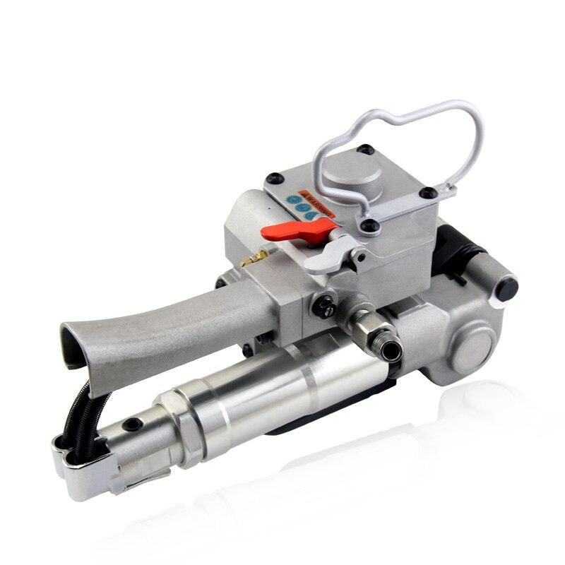 Купить с кэшбэком AQD-25 portable PET plastic belt pneumatic baler PET baler friction hot melt free buckle baler
