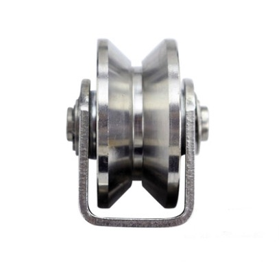 2PCS/LOT  Wheel D:48mm  (2inch)304 Stainless Steel V type Track Pulley Wheel Bearing Rail Groove Caster Lifting m75 750kgs pulley 304 stainless steel roller crown block lifting pulley factory direct sales all kinds of driving pulley