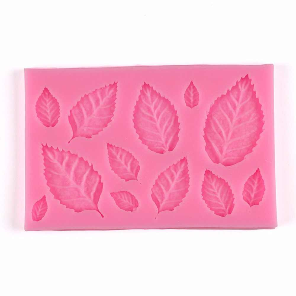 Cute Tree Leaf Shape Fondant Cake Silicone Mold DIY Kitchen Making Candy Biscuits Molds Chocolate Cake Mould Tools