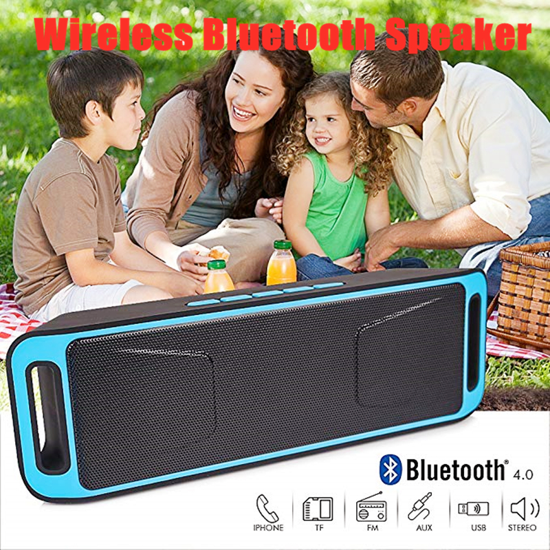 Portable Wireless FM Radio Bluetooth Speakers Mp3 Music Player USB Rechargeable Radio Receiver 3D Stereo Radio Support Aux TF FM