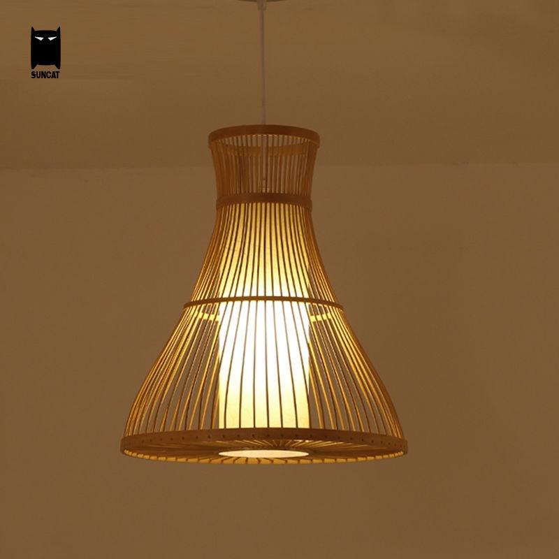 Bamboo Wicker Rattan Pendant Light Fixture Southeast Asia ...
