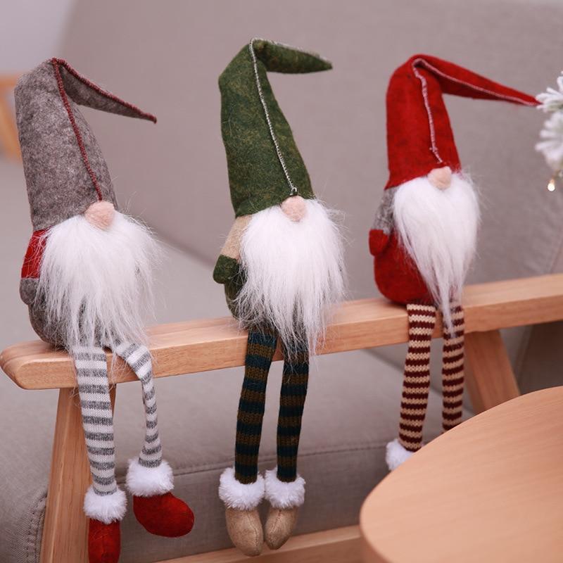 Christmas Decorations All Year Long: 2018 New Christmas Cute Sitting Long Legged Elf Festival