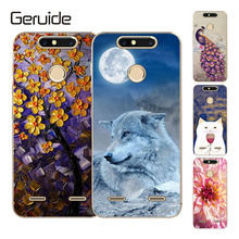Geruide ZTE Blade V8 mini 5.0 Cases Cover, Luxury Flowers Printed Soft TPU Back Cover Silicon Case For ZTE V8 mini Case смартфон zte blade v8 mini золотистый