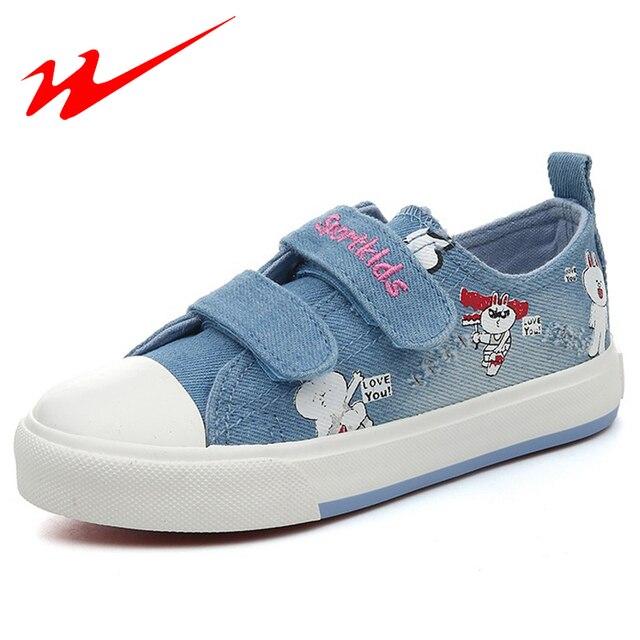 DOUBLE STAR Little Kid Shoes Big Children Outdoor Velcro Denim Walking Sneakers With Cartoon Rabbit Comfort Summer Flat Shoes