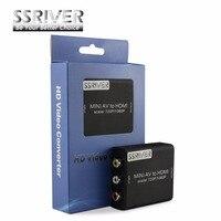 Ssriver 3RCA AV2HDMI CVBS L/R к HDMI адаптер Поддержка 720 P 1080 P к Мини AV к HDMI с аудио конвертер для HD Камера DVD