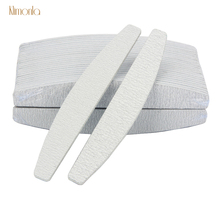 50pcs Gray Boat Nail Art Files 100/180 Sanding Buffing Lime A Ongle DIY Salon Tips Manicure Tools