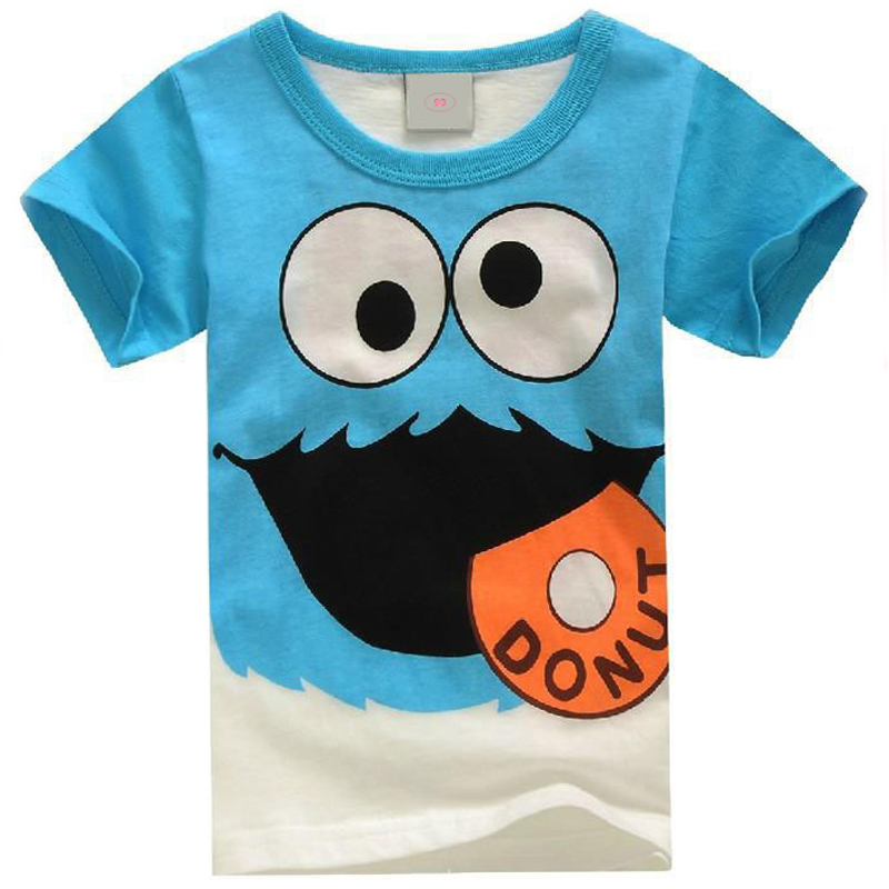 HEISSE neue Sommerkindkleidungjungenmädchenunisext-shirtkarikatur mustert Kinderhülsen-T-Shirts 100% Baumwolle
