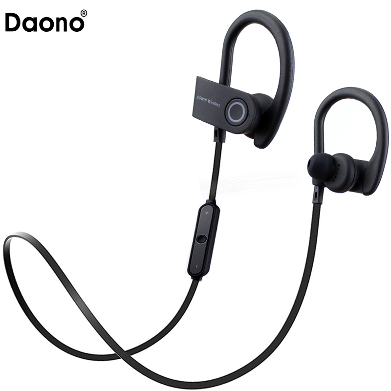 Daono G5 Sports In-Ear Wireless Bluetooth Earphone Stereo Earbuds Headset Bass Earphones with Mic for iPhone 6 Samsung Phone