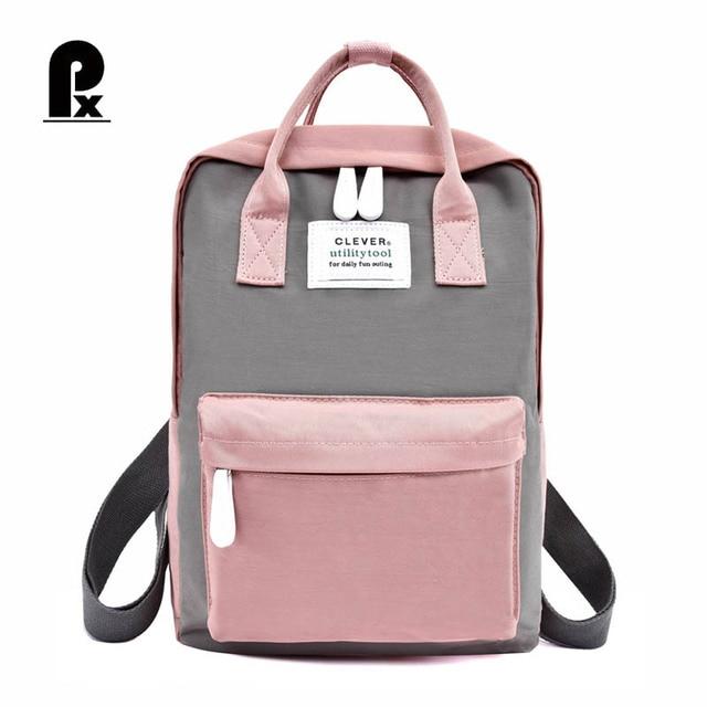 0b02194250754 Cute Canvas Fashion Backpack Female Waterproof Backpack for Girls Leisure  SchoolBags Travel Simple Personality Bookbag Mochila
