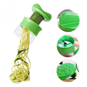 New ABS Carrot Cucumber Grater Spiral Blade Cutter Vegetable Fruit Spiral Slicer Salad Tools Zucchini Noodle Spaghetti Maker(China)