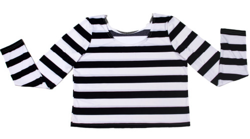 womens black and white striped long sleeve t shirt 9ab0cfe20