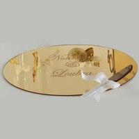 Wedding Mirror Tray Verlobungstablett Mirrored Plate Party Decoration Personalized Custom Acrylic Plexiglass Tableshow for Table