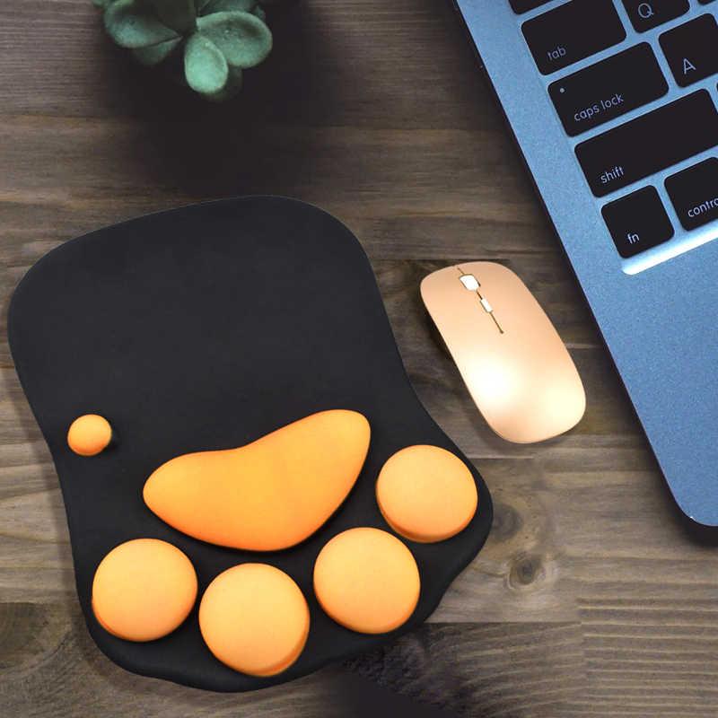 NEO STAR силиконовый коврик для мыши с ПУ Rrist отдых кошка лапа форма Комфорт Противоскользящий толстый коврик для мыши в наличии