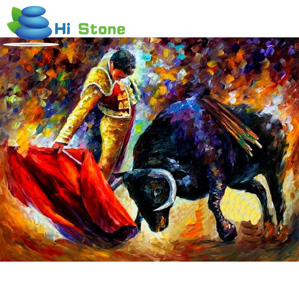 5D DIY Diamond Painting Matador Full Square Diamond Embroidery Needlework Cross Stitch M ...