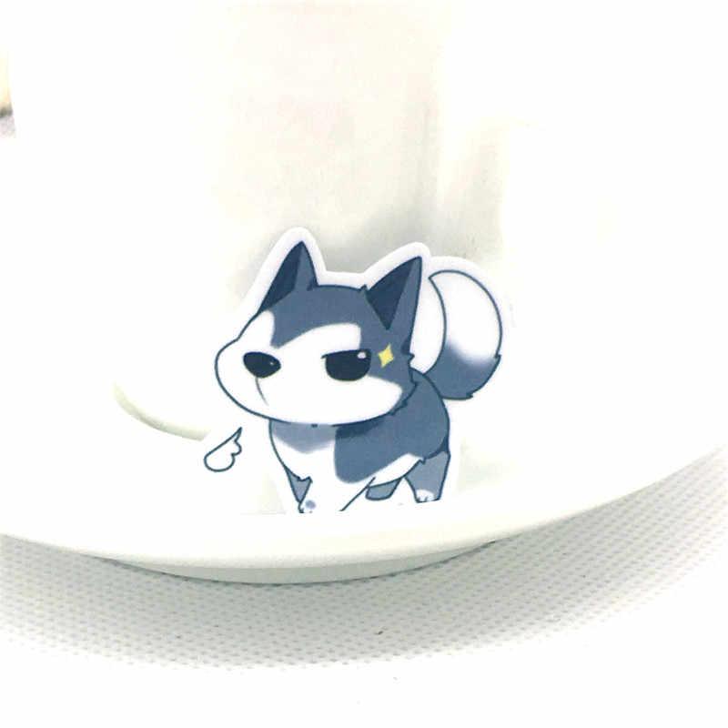 40 шт./лот забавную маленькую волк собака бумага Стикеры наклейка для мобильных устройств на велосипед Тетрадь Рюкзак Детские игрушечные наклейки для скрапбукинга