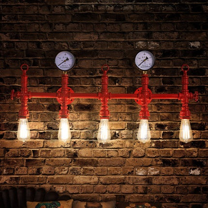 Retro Loft Style Industrial Vintage Wall Light For Home Metal Water Pipe Lamp Edison Wall Sconce Indoor Lighting Lampara Pared loft style edison decorative wall sconce mirror wall light fixtures vintage industrial lighting wall lamp for home lampara