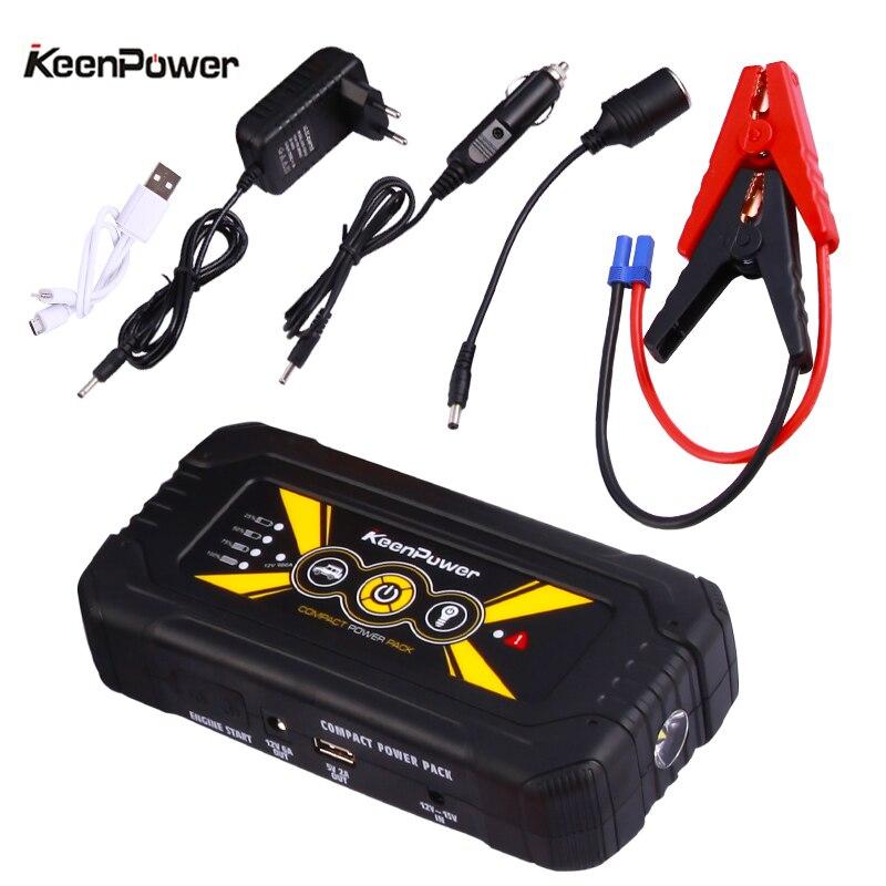 Keenpower Powerbank 12 V 600A/900A multifonctionnel Voiture Puissance Batterie Booster Buster Voiture-Stlying de Départ Sécurité Saut Démarreur