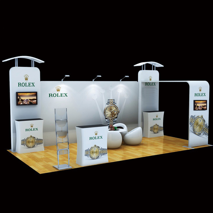 Fabric Exhibition Stand Lighting : Ft tension fabric trade show displays exhibition pop up