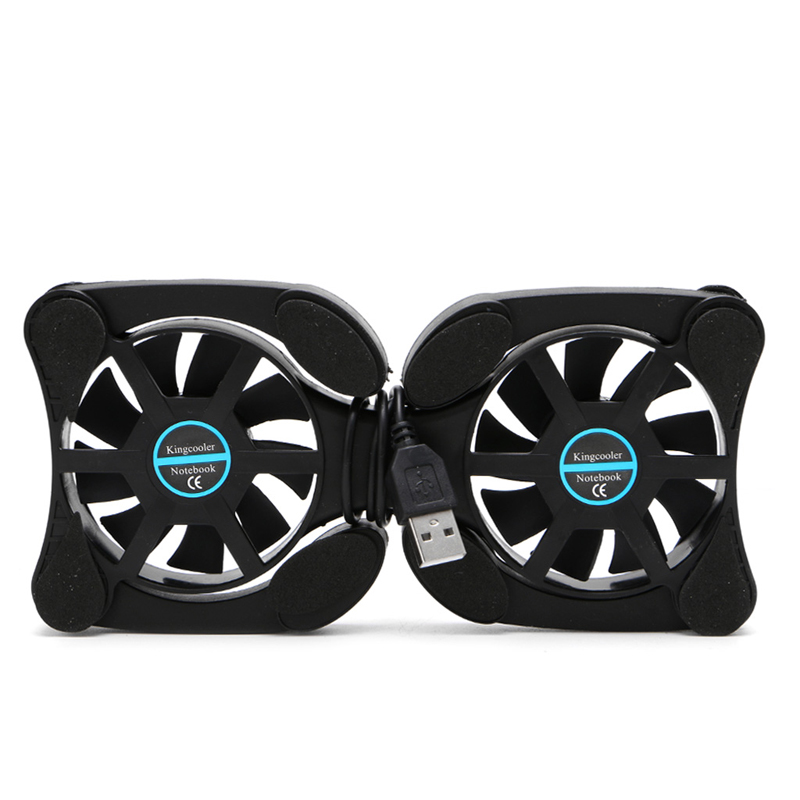 Foldable Cool Cooler Cooling USB Dual Fans Notebook Stand Fan Pad w/2 Fan for 14.1 Laptop Notebook ...